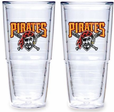 "Pittsburgh Pirates Set of TWO 24 oz. ""Big T"" Tervis Tumblers"