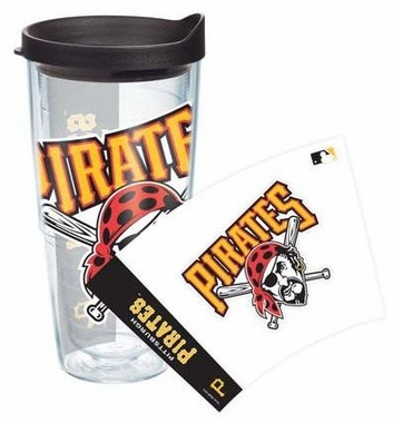 Pittsburgh Pirates Set of TWO 24 oz. Tervis Wrap Tumblers w/ Lids