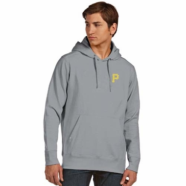 Pittsburgh Pirates Mens Signature Hooded Sweatshirt (Color: Gray)
