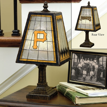 Pittsburgh Pirates Small Art Glass Lamp
