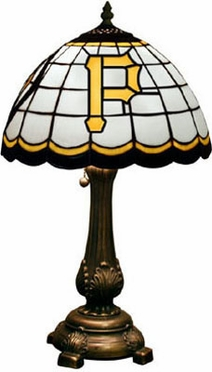 Pittsburgh Pirates Stained Glass Table Lamp