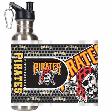 Pittsburgh Pirates Stainless Steel Water Bottle with Hi-Def Graphics