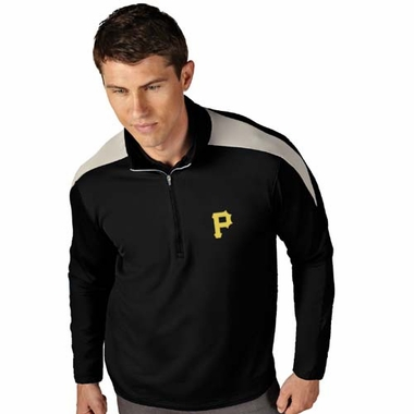 Pittsburgh Pirates Mens Succeed 1/4 Zip Performance Pullover (Team Color: Black)