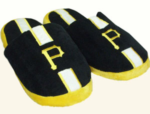 Pittsburgh Pirates Team Stripe Slide Slippers