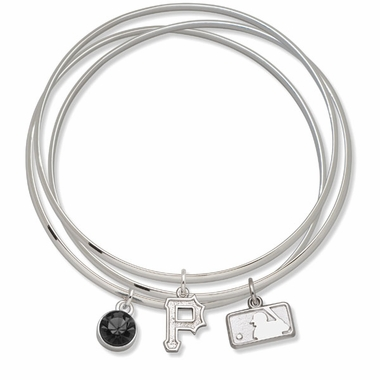 Pittsburgh Pirates Triple Bangle Bracelet