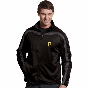 Pittsburgh Pirates Mens Viper Full Zip Performance Jacket (Team Color: Black)
