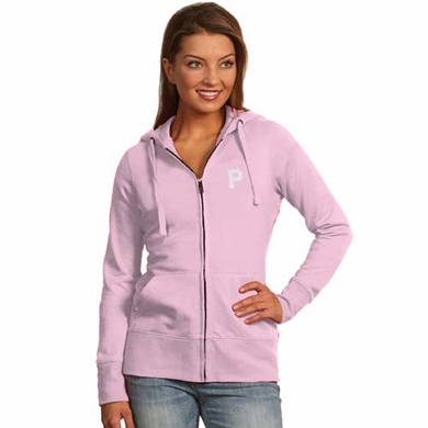 Pittsburgh Pirates Womens Zip Front Hoody Sweatshirt (Color: Pink)