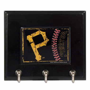 Pittsburgh Pirates Wooden Keyhook Rack