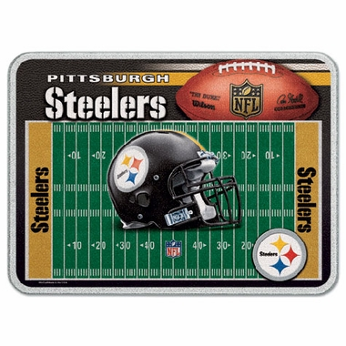 Pittsburgh Steelers 11 x 15 Glass Cutting Board