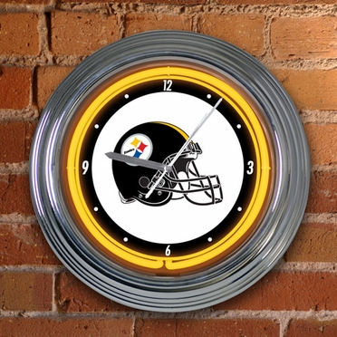 Pittsburgh Steelers 15 Inch Neon Clock