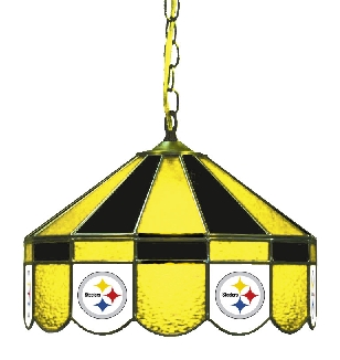 Pittsburgh Steelers 16 Inch Diameter Stained Glass Pub Light