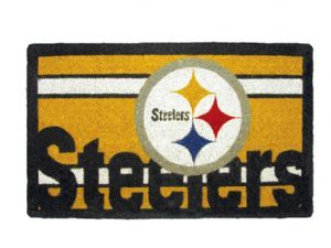 Pittsburgh Steelers 18x30 Bleached Welcome Mat
