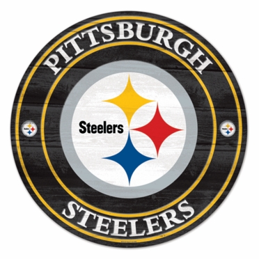 Pittsburgh Steelers 19.75 Inch Wood Sign