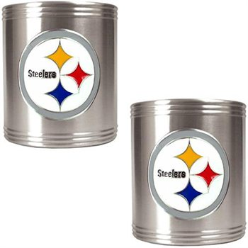 Pittsburgh Steelers 2 Can Holder Set