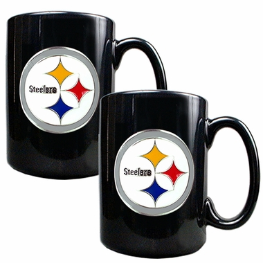 Pittsburgh Steelers 2 Piece Coffee Mug Set