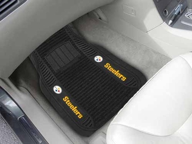 Pittsburgh Steelers 2 Piece Heavy Duty DELUXE Vinyl Car Mats