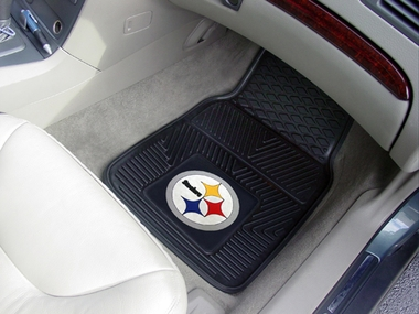 Pittsburgh Steelers 2 Piece Heavy Duty Vinyl Car Mats