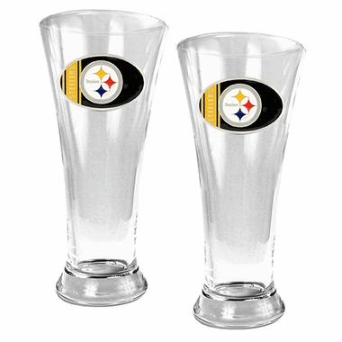Pittsburgh Steelers 2 Piece Pilsner Glass Set