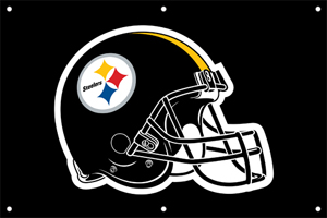 Pittsburgh Steelers 2 x 3 Horizontal Applique Fan Banner