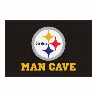 Pittsburgh Steelers 20 x 30 Man Cave Rug