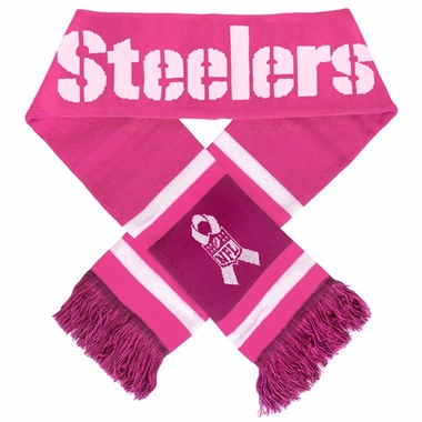 Pittsburgh Steelers 2012 NFL Breast Cancer Foundation Team Stripe Scarf