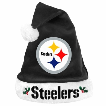 Pittsburgh Steelers 2012 Team Logo Plush Santa Hat
