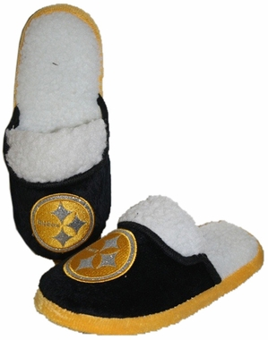 Pittsburgh Steelers 2012 Womens Team Color Sherpa Glitter Slippers