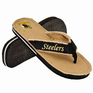 Pittsburgh Steelers 2013 Retro Contoured Flip Flop Sandals