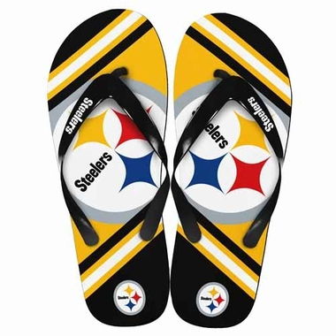 Pittsburgh Steelers 2013 Unisex Big Logo Flip Flops