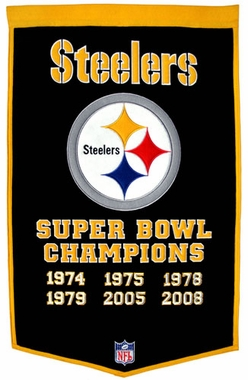 "Pittsburgh Steelers 24""x36"" Dynasty Wool Banner"