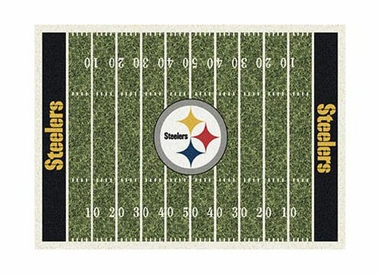 "Pittsburgh Steelers 3'10"" x 5'4"" Premium Field Rug"