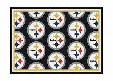 "Pittsburgh Steelers 3'10"" x 5'4"" Premium Pattern Rug"