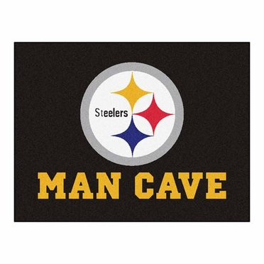 Pittsburgh Steelers 34 x 45 Man Cave Rug