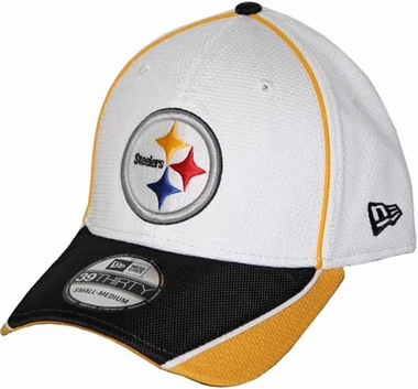 Pittsburgh Steelers 39THIRTY Abrasion Plus Fitted Hat - White