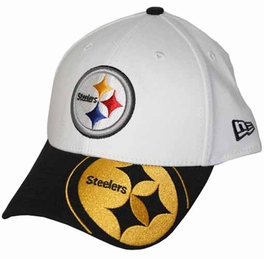 Pittsburgh Steelers 39THIRTY Punch Out Classic Fitted Hat
