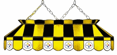 Pittsburgh Steelers 40 Inch Rectangular Stained Glass Billiard Light