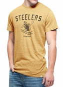 '47 Brand Pittsburgh Steelers Varsity Scrum Premium T-Shirt - Gray