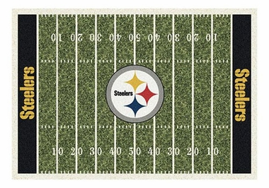 "Pittsburgh Steelers 5'4"" x 7'8"" Premium Field Rug"