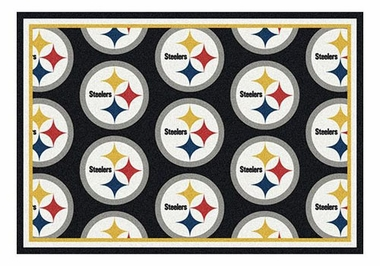 "Pittsburgh Steelers 5'4"" x 7'8"" Premium Pattern Rug"