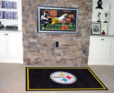 Pittsburgh Steelers 5 Foot x 8 Foot Rug