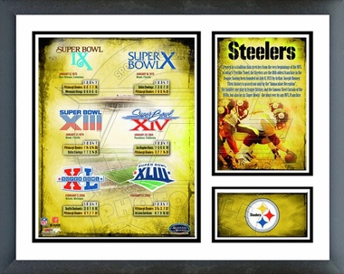 Pittsburgh Steelers 6 X Super Bowl Champions Framed Milestones & Memories #235