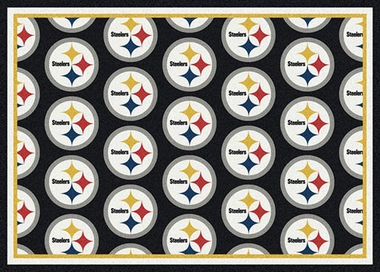 "Pittsburgh Steelers 7'8 x 10'9"" Premium Pattern Rug"