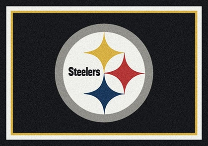 "Pittsburgh Steelers 7'8"" x 10'9"" Premium Spirit Rug"