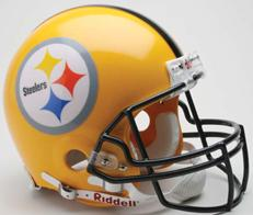 Pittsburgh Steelers 75th Anniversary Deluxe Replica Gold Helmet