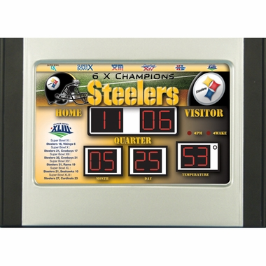 Pittsburgh Steelers Alarm Clock Desk Scoreboard