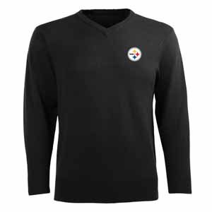 Pittsburgh Steelers Mens Ambassador Sweater (Team Color: Black) - Small