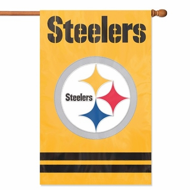 Pittsburgh Steelers Applique Banner Flag (Alternate)
