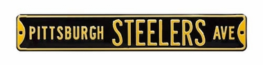 Pittsburgh Steelers Ave Black Street Sign