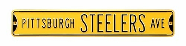 Pittsburgh Steelers Ave Yellow Street Sign