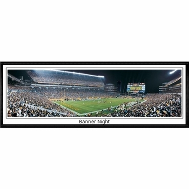 Pittsburgh Steelers Banner Night Framed Panoramic Print